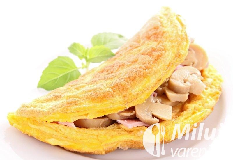 Šunková omeleta se žampiony