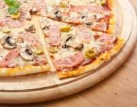 Pizza se šunkou a žampiony