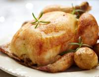 Pečené kuře na víně