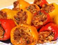 Papriky plněné mletým masem