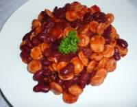 Červené fazole s párkem