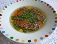 Hovězí polévka s mletým masem