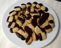 Vanilkové cukroví s čokoládou