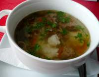 Rychlá polévka z mletého masa