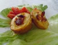 Plněné brambory se slaninou