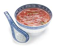 Nudlová polévka s protlakem