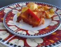 Sýr smažený v rajčatovém těstíčku