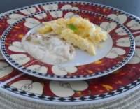 Míchaná vejce se smetanovou omáčkou