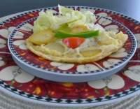Sázená vejce na bramborách se sýrem