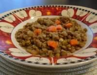 Vařená čočka se zeleninou