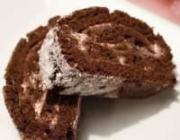 Smetanová čokoládová roláda