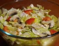 Hlávkové saláty s krůtím masem