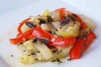 Grilovaná žampionová směs se zeleninou