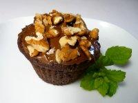 Čokoládové muffiny s ořechy