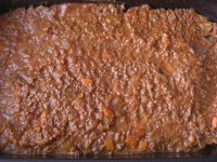 Bramborový koláč s mletým hovězím masem