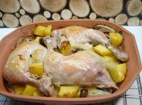 Kuře pečené v římském hrnci