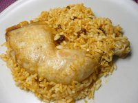 Kuřecí stehna s rýží