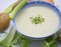 Pórková polévka na řecký způsob