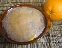 Grilované grapefruity s vinnou pěnou