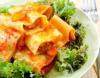 Cannelloni s krabem a čekankou