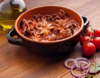 Chobotničky v rajčatové omáčce
